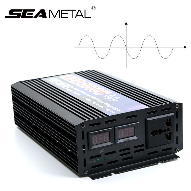4000W 2000W Pure Sine Wave Car Inverter Power DC12V To AC220V Electronics Inverter Car Portable Supply For Home Auto Accessories