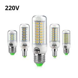 Full NEW LED lamp E27 E14 3W 5W 7W 12W 15W 18W 20W 25W SMD 5730 Corn Bulb 220V Chandelier LEDs Candle light Spotlight