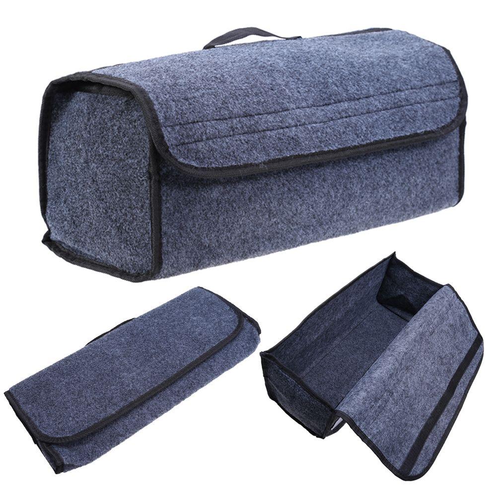 1Pcs Car Organiser Auto Accessories Van Grey Carpet Car Boot Organiser Storage Bag Tools Breakdown Travel Tidy Car Styling New