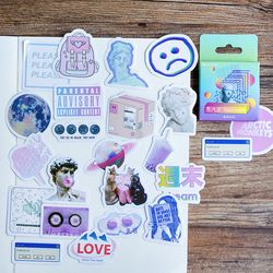 46 Pcs/pack Creative Cute vaporwave Mini Paper Sticker Decoration Diy Ablum Diary Scrapbooking Label Sticker Kawaii Stationery