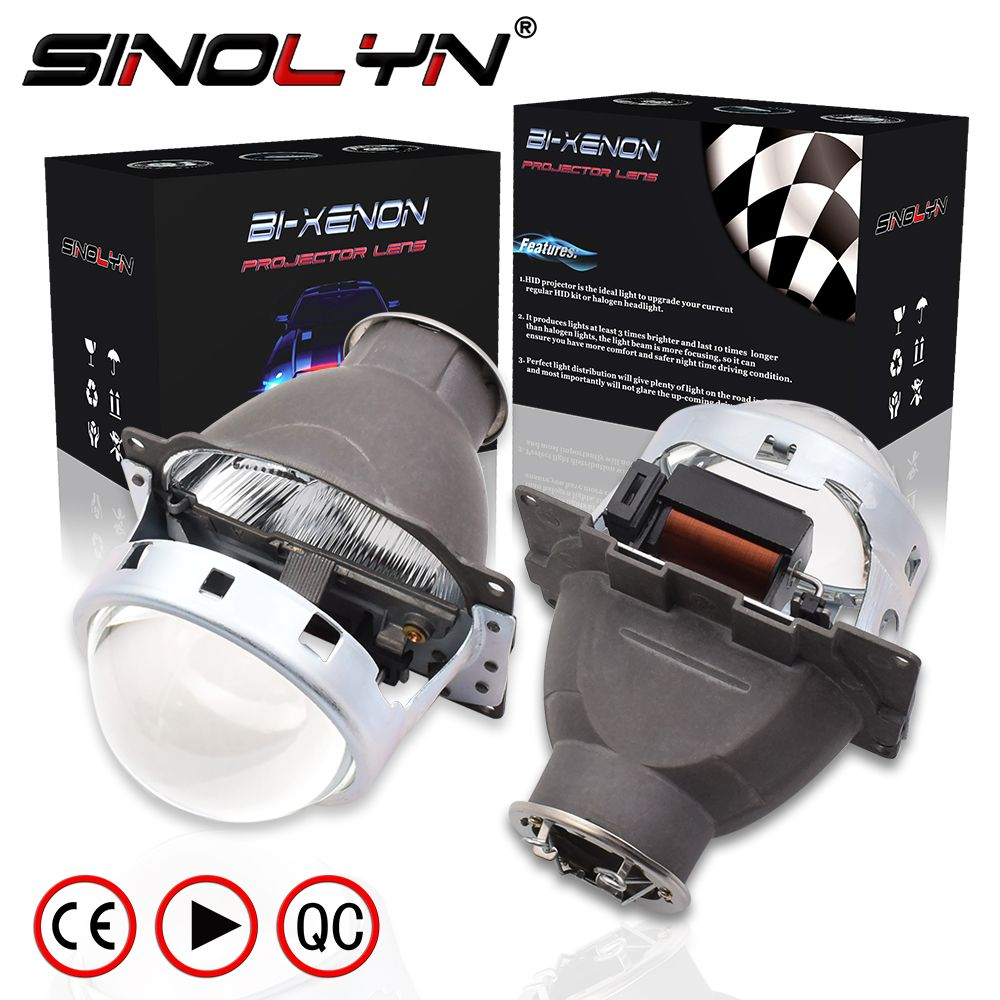 SINOLYN 3.0'' Q5 H7 D2S HID Xenon/Halogen/LED Headlight Bi-Xenon Projector Lens LHD RHD For Car Styling Headlamp Tuning Retrofit