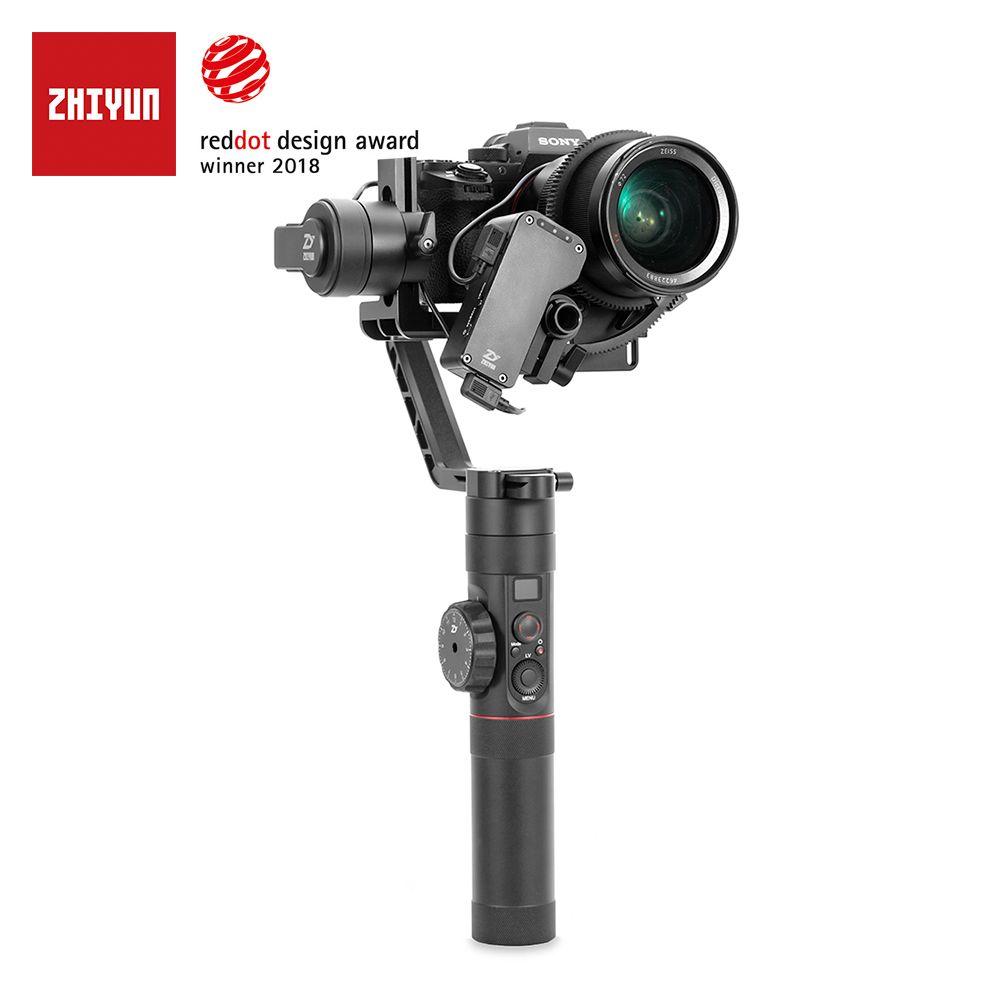 Zhiyun Offizielle Kran 2 3-achsen Kamera Stabilisator für Alle Modelle von DSLR Mirrorless Kamera Canon 5D2/3/4 mit Servo Folgen Fokus
