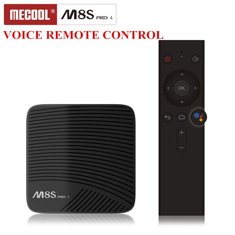 Mecool M8S PRO L TV Box Android 7.1 Smart Set Top Box Amlogic S912 Cortex-A53 CPU Bluetooth 4.1 4K With Voice Remote Control