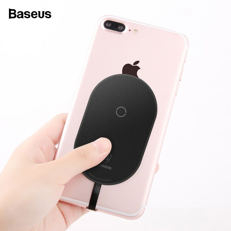 Baseus Qi Wireless Charger Receiver For iPhone 7 6 6s 5 Micro USB Type C Wireless Charging Connector For Samsung Xiaomi Huawei