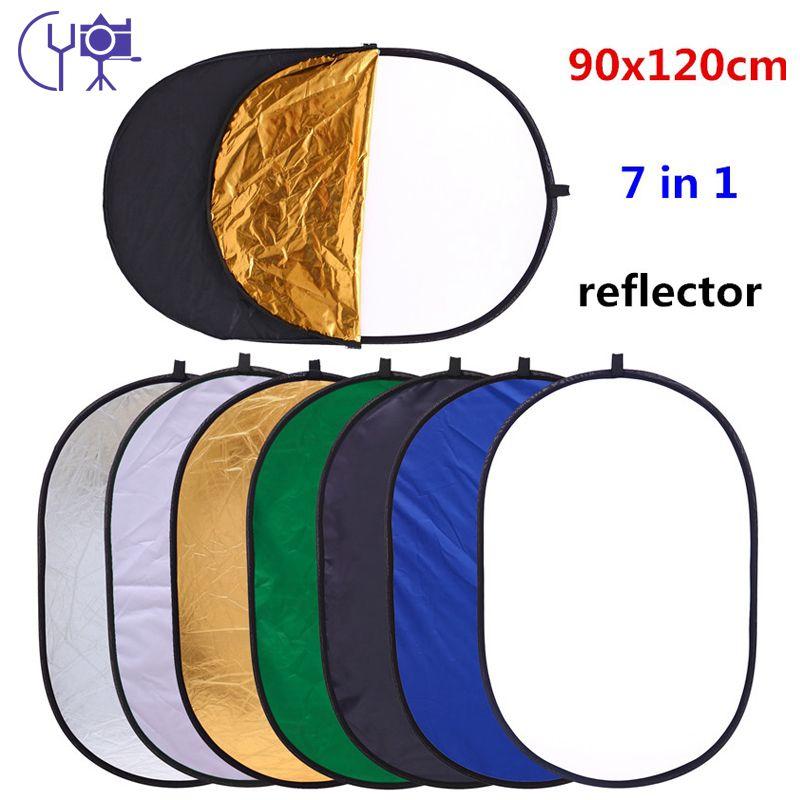 CY livraison gratuite 90x120 cm 7 en 1 Multi Photo ovale Ellipse pliable réflecteur de lumière Portable photographie Studio réflecteur