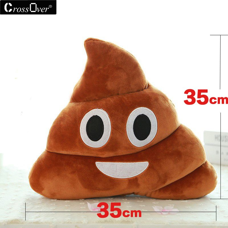 Free Shipping Hot Sale Cute Stuffed Plush Poop pillow coussin caca Poo cojines coussin Emotion pillow cushion Emoji pillows