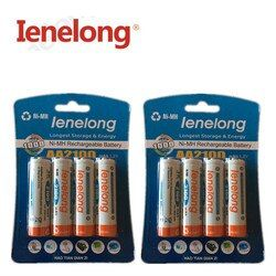 8pcs 100% genuine original Ienelong 1600mAh NiMH AA rechargeable batteries, high-quality toys, cameras, flashlights
