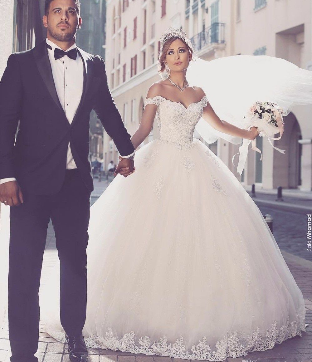 2018 Sweetheart Ball Gowns Wedding Dresses Lace Appliques Body Real Image Vestido De Noiva gelinlik Custom Made