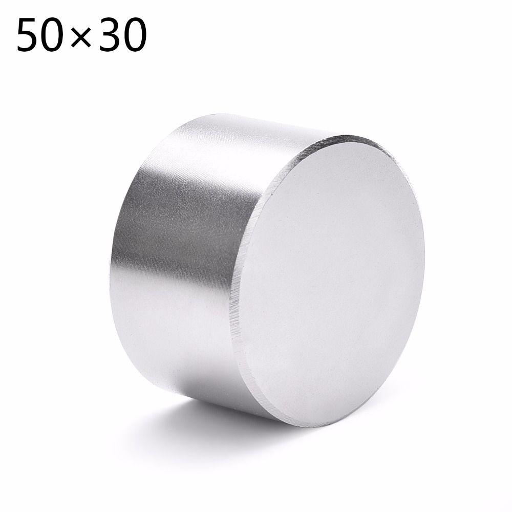 1 pièces N52 Dia 50x30mm aimant rond chaud forte terre Rare néodyme magnétique en gros 50*30 50*30mm 50mm x 30mm livraison gratuite