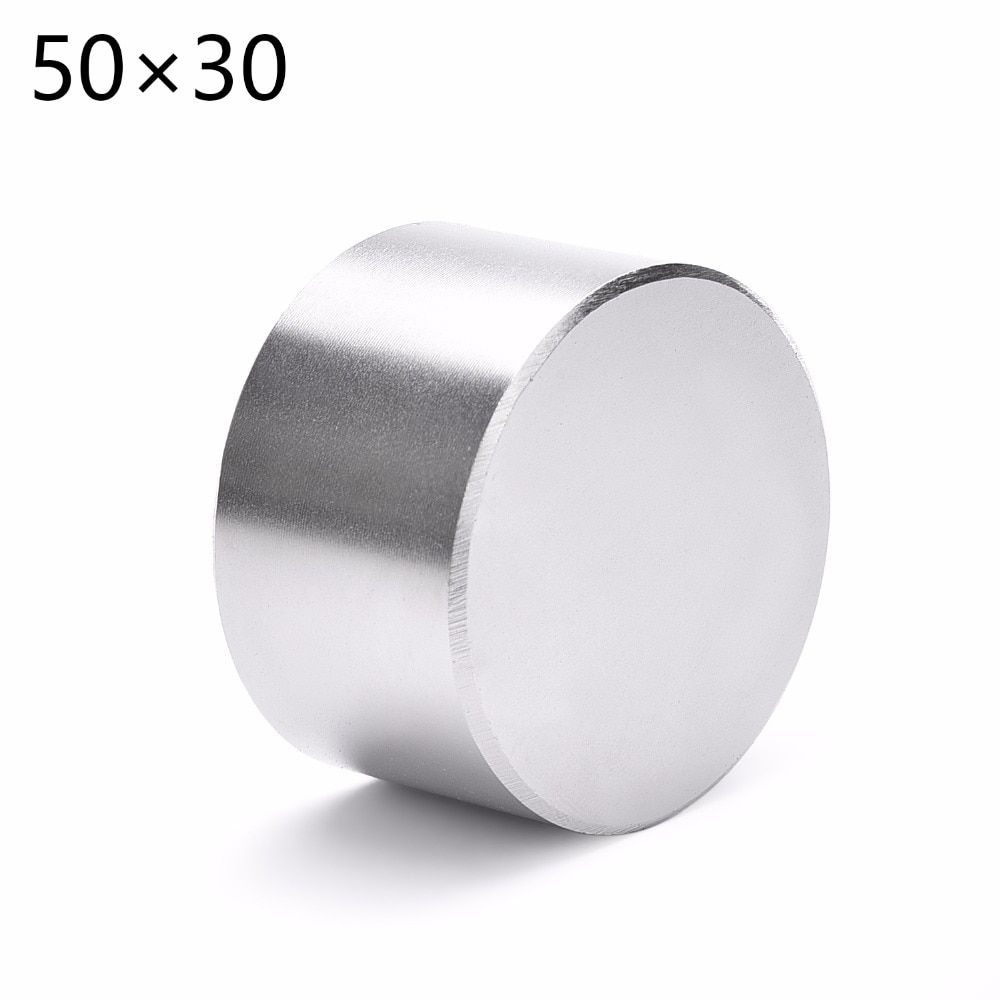 1pcs N52 Dia 50x30 mm hot round magnet Strong Rare Earth Neodymium Magnetic wholesale 50*30 50*30mm 50mm x 30 mm Free shipping