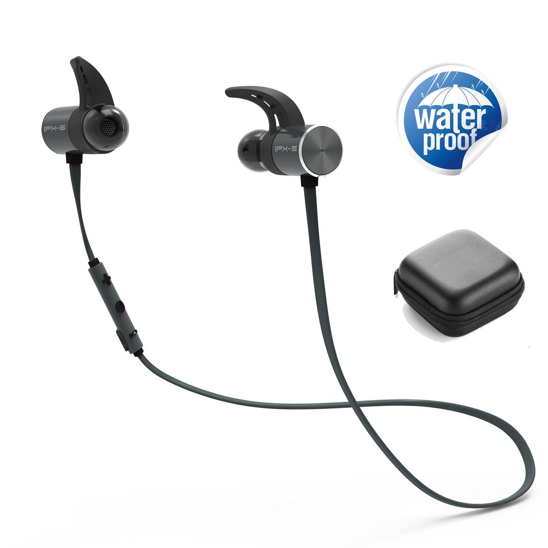 Plextone BX343 Wireless Earphone Bluetooth IPX5 Waterproof Earbuds Magnetic Headset Earphones With Microphone