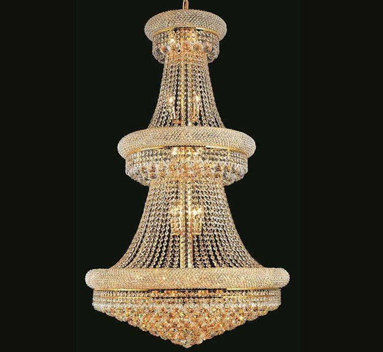 Phube Beleuchtung Französisch Reich Gold Große Kristallleuchter Lustre Chrom Kronleuchter Beleuchtung Moderne Kronleuchter Licht Beleuchtung