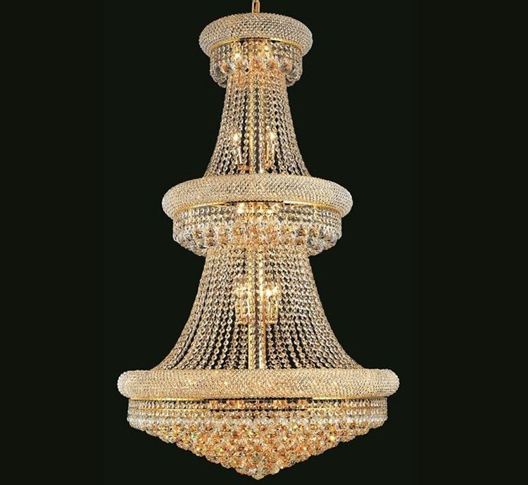 Phube Lighting French Empire Gold Large Crystal Chandelier Lustre Chrome Chandeliers Lighting Modern Chandeliers Light Lighting