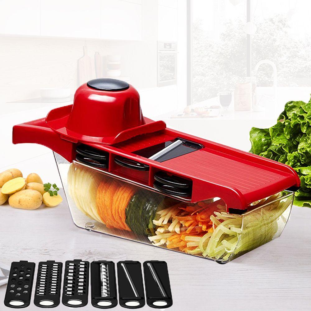 Mandoline trancheuse coupe-légumes avec lame en acier inoxydable manuel éplucheur de pommes de terre carotte fromage râpe Dicer outil de cuisine