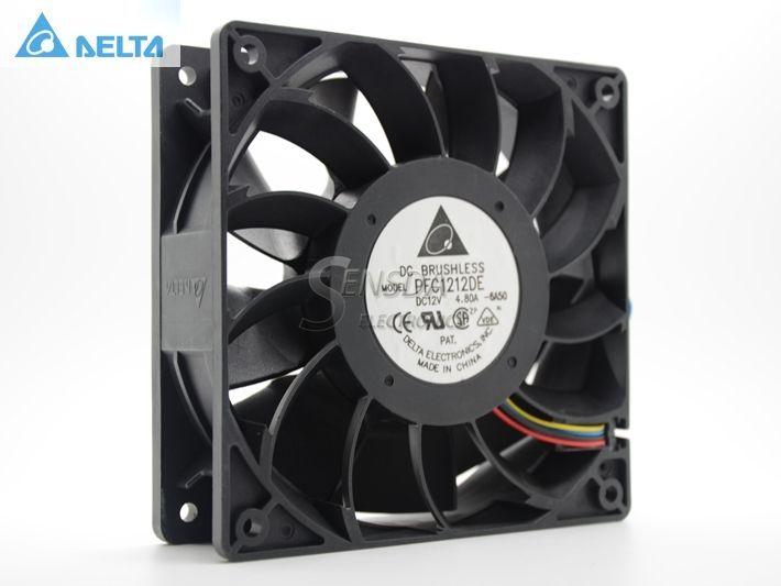 Дельта PFC1212DE 120*120*38 мм 12038 1238 12 см DC 12 В 4.80a инвертор Сервер вентилятор охлаждения
