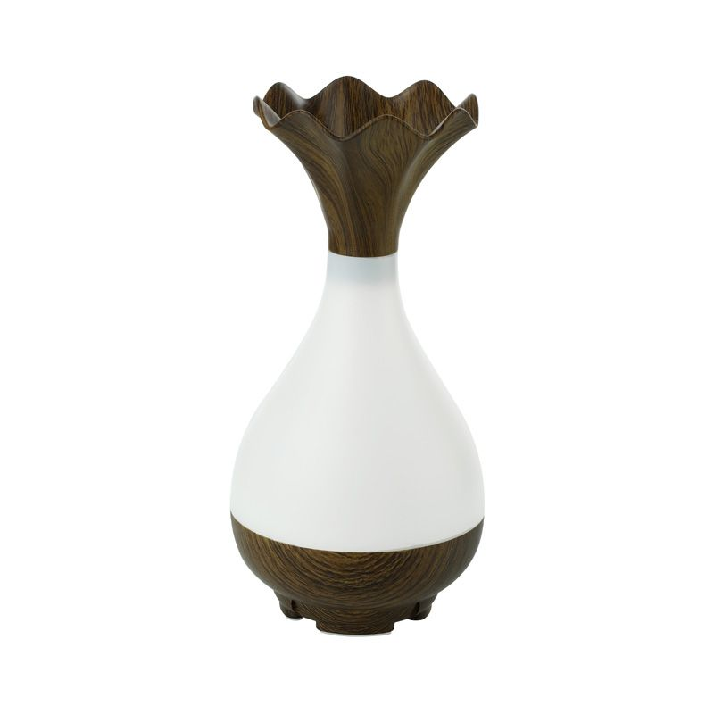 USB Humidifier Ultrasonic Aromatherapy Essential Oil diffuser LED Light Atomization Wood Grain Vase for Home Office