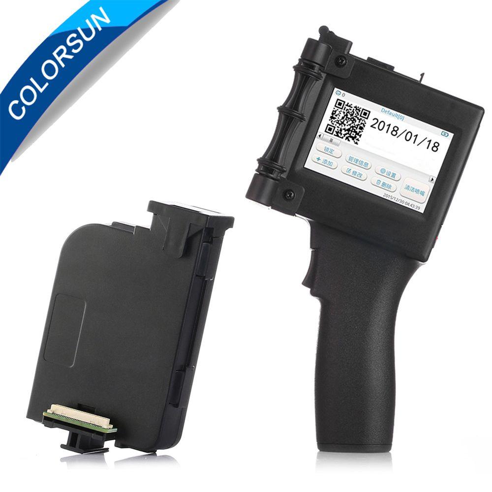 Touchscreen 600 DPI Handheld Intelligente QR Inkjet Drucker USB 360 T Tinte Datum Coder Codierung maschine + eco solvent tinte patrone