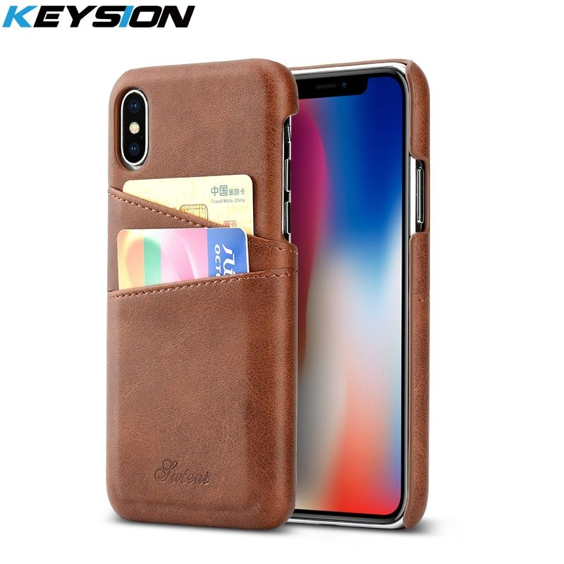 KEYSION Case For iPhone XS Max XR X 8 7 Plus Cover Leather Luxury Wallet Card Slots Back Capa For iPhone XR XS MAX Cases Fundas