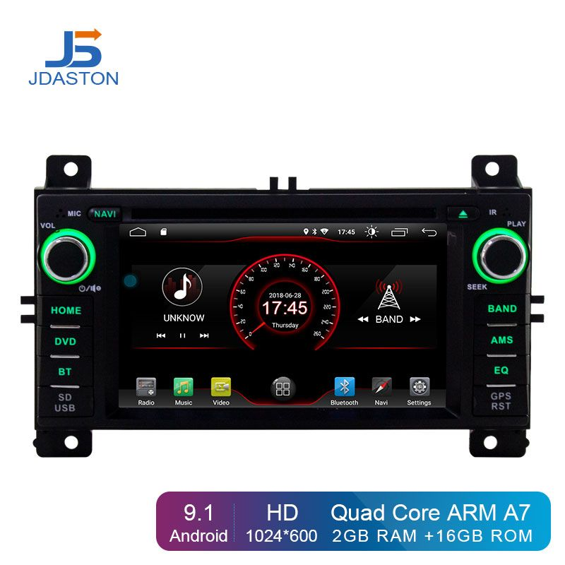 JDASTON Android 9.1 Auto DVD Player Für Jeep Grand Cherokee 2011 2012 2013 2 Din Auto Radio GPS Navigation Stereo WIFI canbus RDS