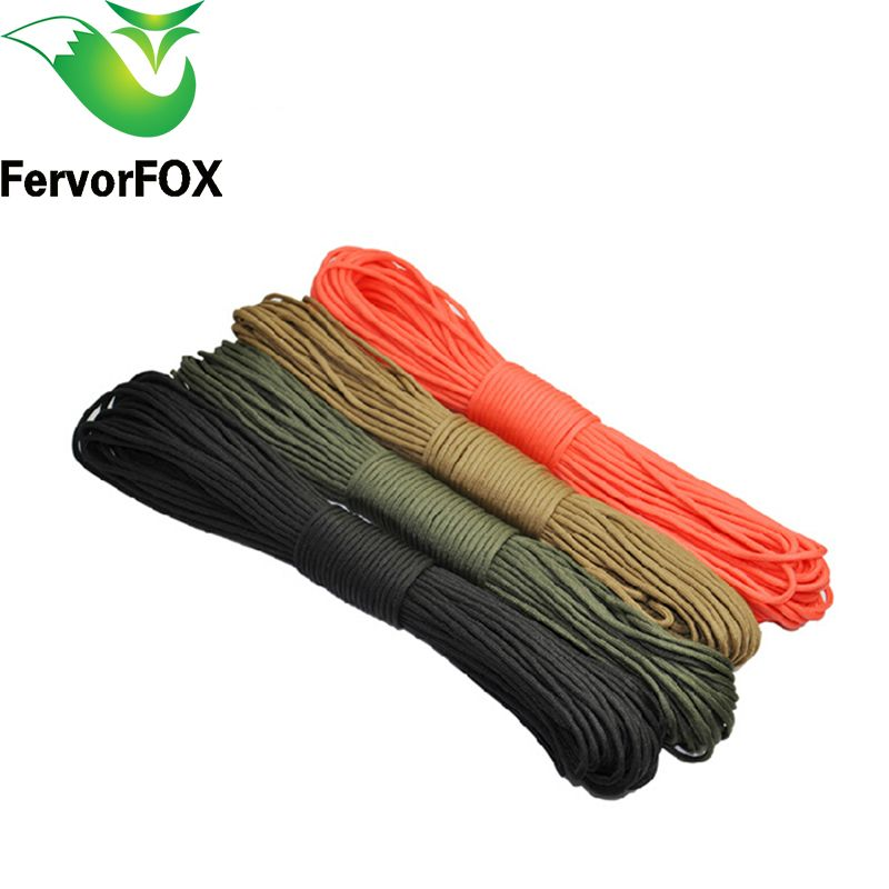 100 m (328 FT) Paracord 550 Paracord Parachute Cord Lanyard <font><b>Rope</b></font> Mil Spec Type III 7 Strand Climbing Camping survival equipment