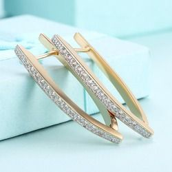 Newest Fashion sale romantic personality single row embedded earrings Swarovski Crystals girl gift  jewelry earrings
