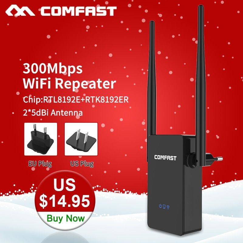 Comfast CF-WR302SWireless WIFI Router Repeater 300M 10dBi Antenna Wi fi Signal Repeater 802.11N/B/G Roteador Wi-fi Rang Extender