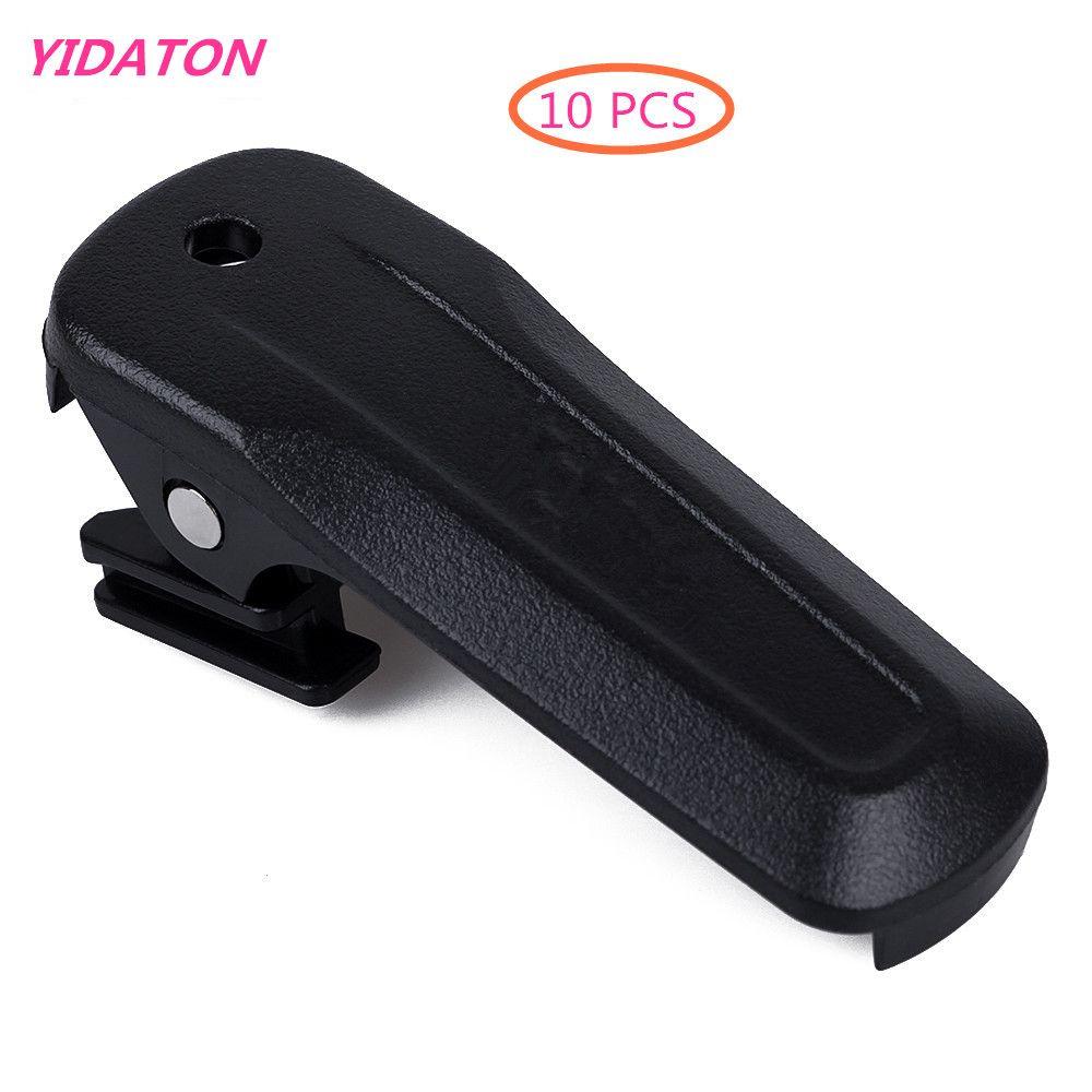 YIDATON 10 pcs Battery Belt Clip for Kenwood TK-U100 TK-3000M TH-K20A TK-2000T Radio Black Color Battery Belt Back Clip