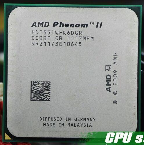 Freies Verschiffen AMD Phenom II X6 1055 T 95 Watt CPU prozessor 2,8 GHz AM3 938 Prozessor Sechs-Core 6 Mt Desktop CPU scrattered stück