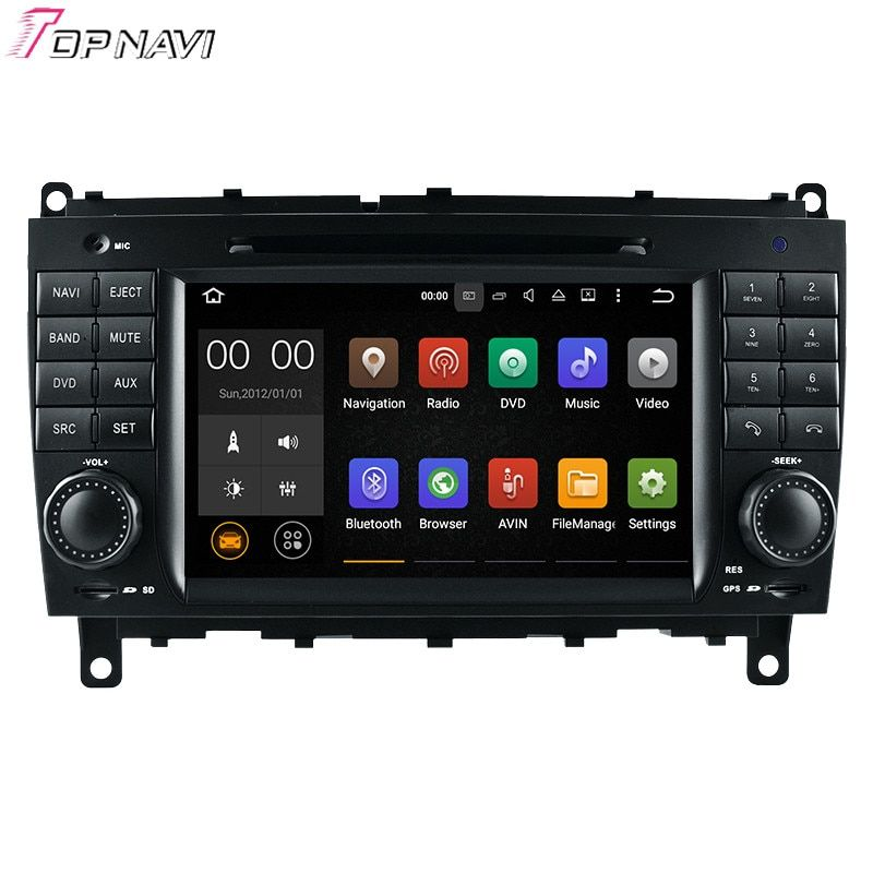 Topnavi 7'' Quad Core Android 7.1 Car DVD Multimedia Player for CLK W209(2006-2011)/CLS W219(2006-2008) For BENZ GPS Navigation