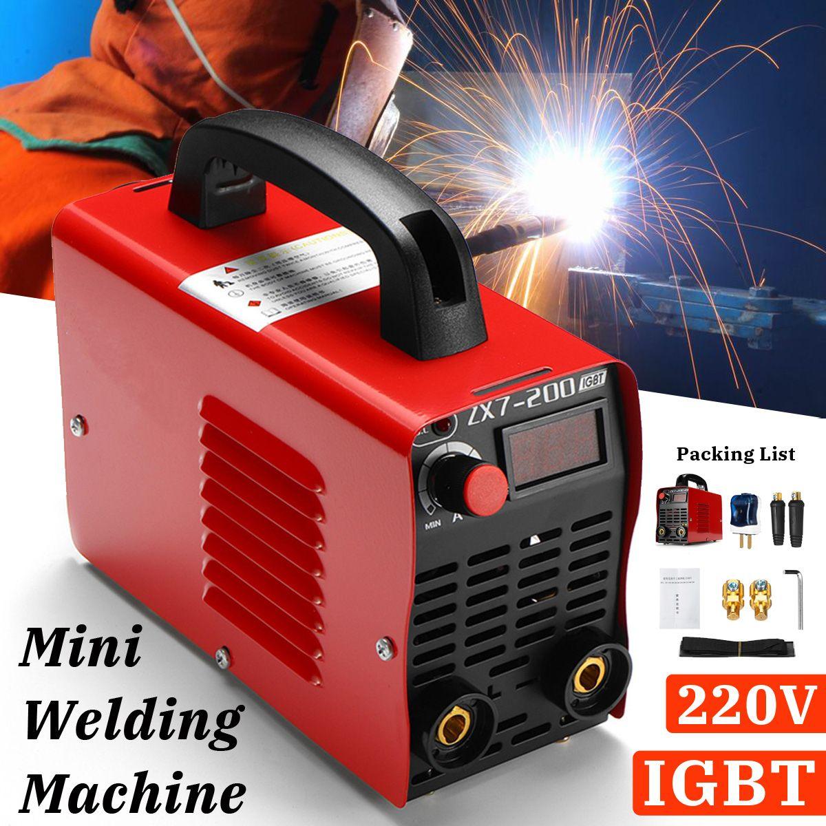220 v 10-200A 4000 watt Handheld Mini MMA IGBT Inverter Mini Elektrische ARC Schweißen Schweißer-Maschine Werkzeug