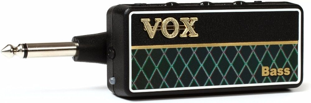 VOX AP2BS amPlug 2 Bass G2 Guitar Headphone Bass Guitar Amplifier with 3 Gain Modes, Speaker Cabinet Emulation, and Aux in Jack