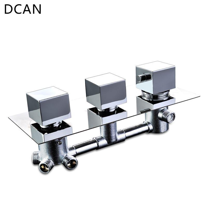 Robinet mitigeur thermostatique de salle de bains DCAN robinet de douche en laiton chromé robinet mitigeur 3-4 voies robinet accessoires de robinet de bain