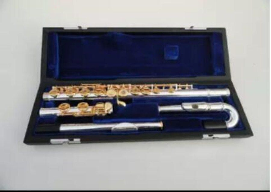 High Quality New -471 Music Instrument 16 Hole 17 Hole E key Opening Music C Gold plated Flute Performance Free Shipping