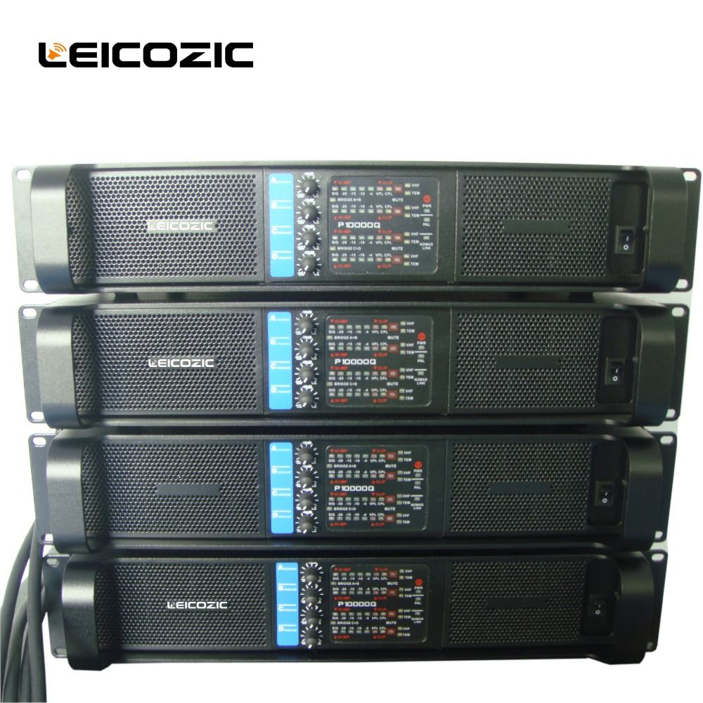 Leicozic New! 4 channel amplifier L10000q line array amplifier professional 4*2500w professional sound power amplifier line amps