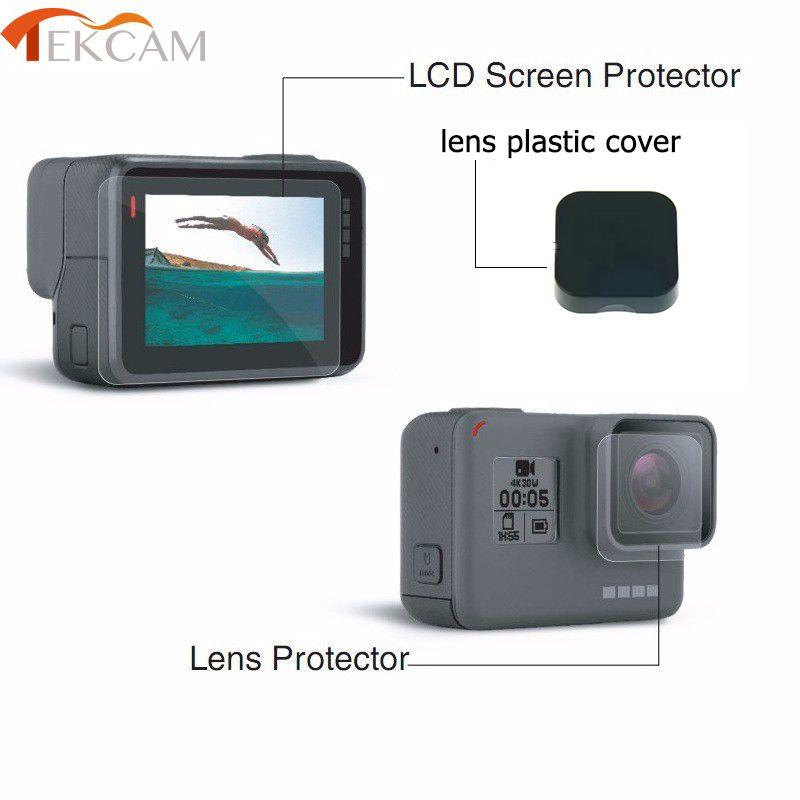 Tekcam für gopro hero 6 LCD Screen Protector Film Objektiv Beschützer abdeckung für Gopro 5 Go pro Hero 5 Action-kamera Zubehör