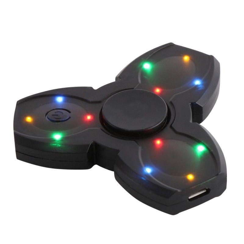 LED Altavoz Bluetooth Musical Mano Juguetear Gyro Spinner Spinner de Carga USB Dedo Anti Stress Relief Adultos Niños Juguetes Regalos