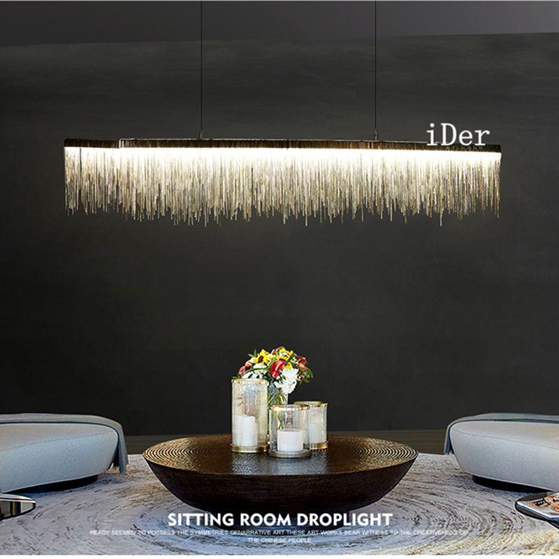 Postmodernen designer Anhänger Lichter Nordic quaste restaurant luxus hotel engineering kette wohnzimmer kunst hängen lichter