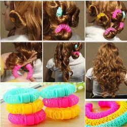 8 Pcs Nouvelle Magie Cheveux Beignets Cheveux Styling Rouleau Coiffure Magique Bendy Bigoudi Spiral Curls Outil BRICOLAGE pour Femme Cheveux accessoires