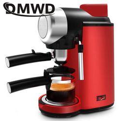 DMWD Electric High Pressure Steam Espresso Maker Semi-automatic Italian Coffee Machine 5bar Cappuccino Milk Frother Bubble Foam