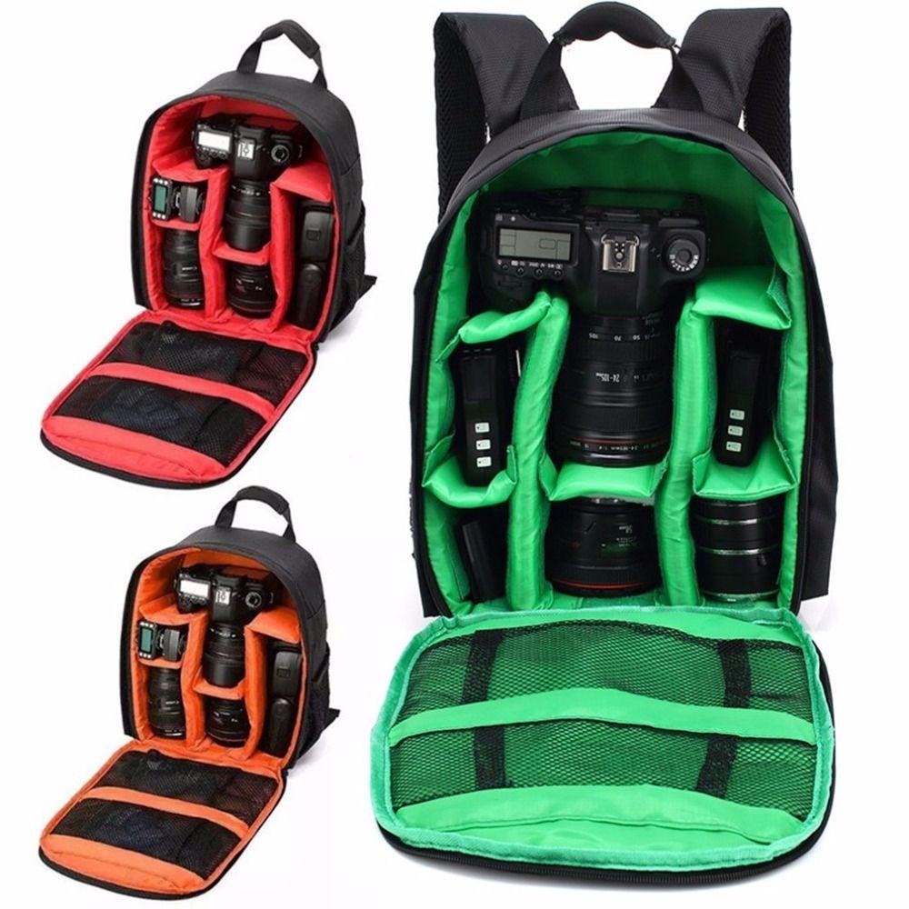 Digital SLR DSLR Camera Bag Soft Padded Backpack For Canon Nikon Upgrade Waterproof Shockproof Anti-theft Camera Bag Unisex