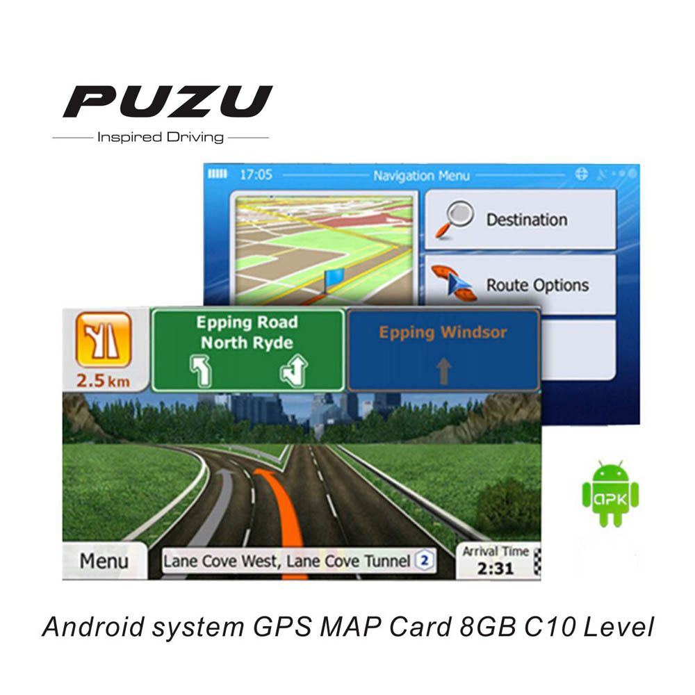 Universal 8G gps maps Micro sd card latest Map for android car dvd navigation map Europe/Russia/Belarus/USA/CA/AU/Israel
