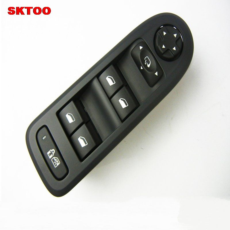 SKTOO Power window switch glass lifter switch window lifter switch For Citroen c5 Peugeot 508 black (Original Product)