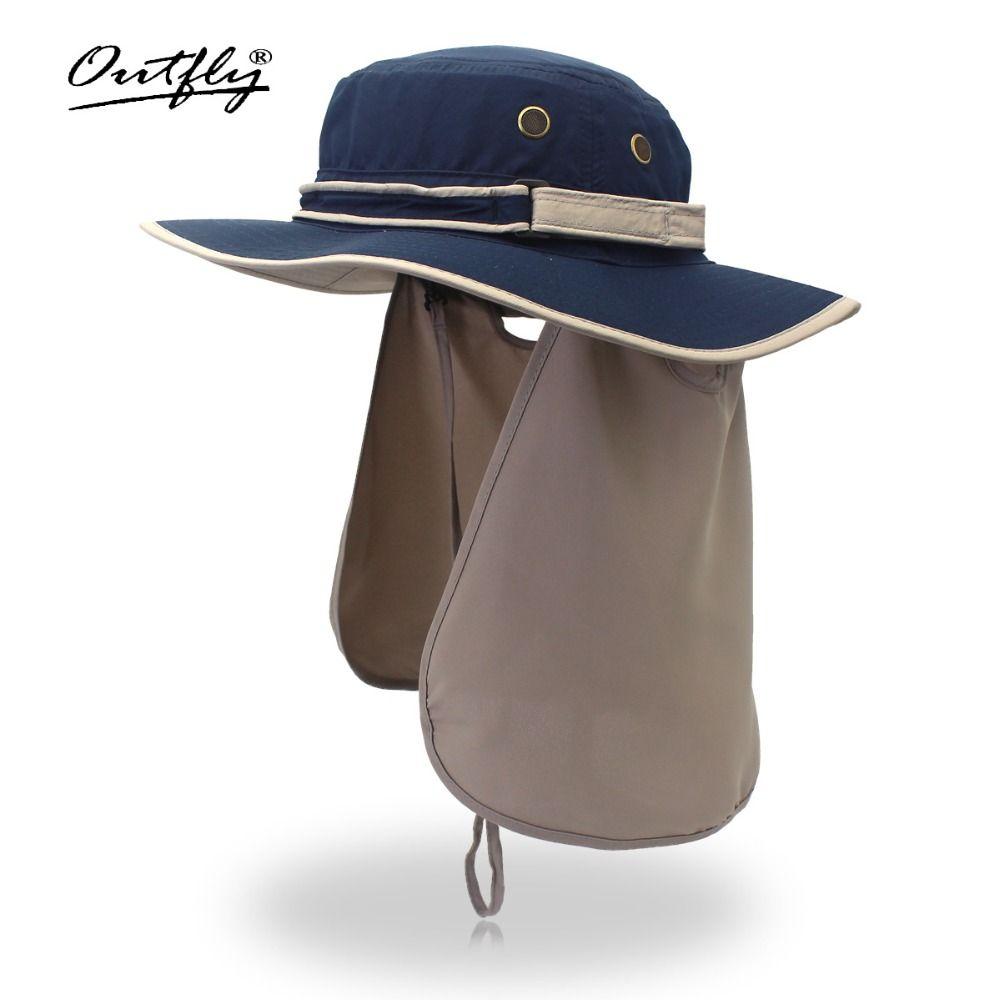 Large bord hommes femmes seau chapeau avec chaîne imperméable à l'eau en plein air pêche chasse chapeau pêcheur os casquettes montagne escalade soleil chapeau