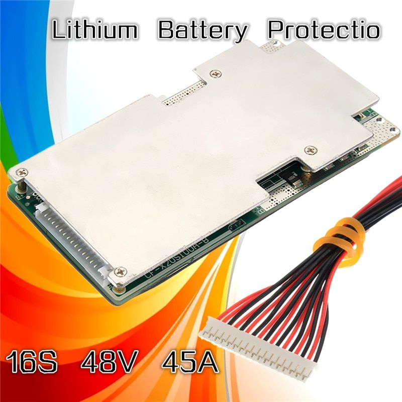 1Pcs New 16S 45A 48V Li-ion Lithium LiFePo4 Battery BMS LFP PCM Power Protection Board Integrated Circuits Board