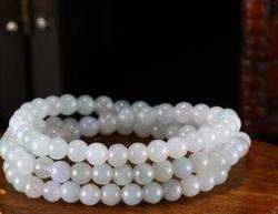 Naturel jade bracelet homme et femme de glace huile de graines bleu perles jade bracelet chaîne bijoux.