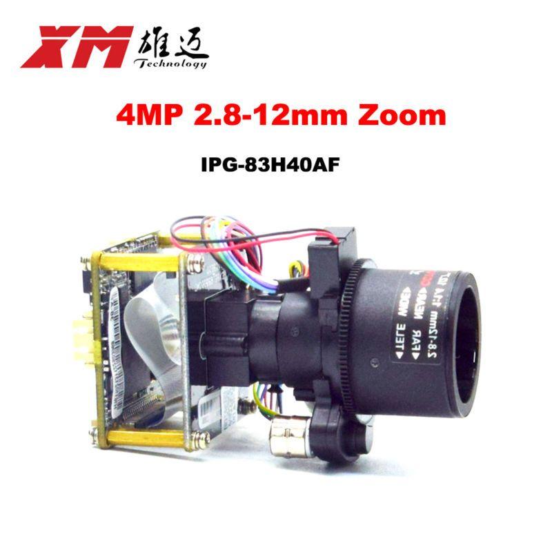 XM Original H.265 (4.0MP) 2.8-12mm Motorized Zoom & Auto Focal LEN 1/3