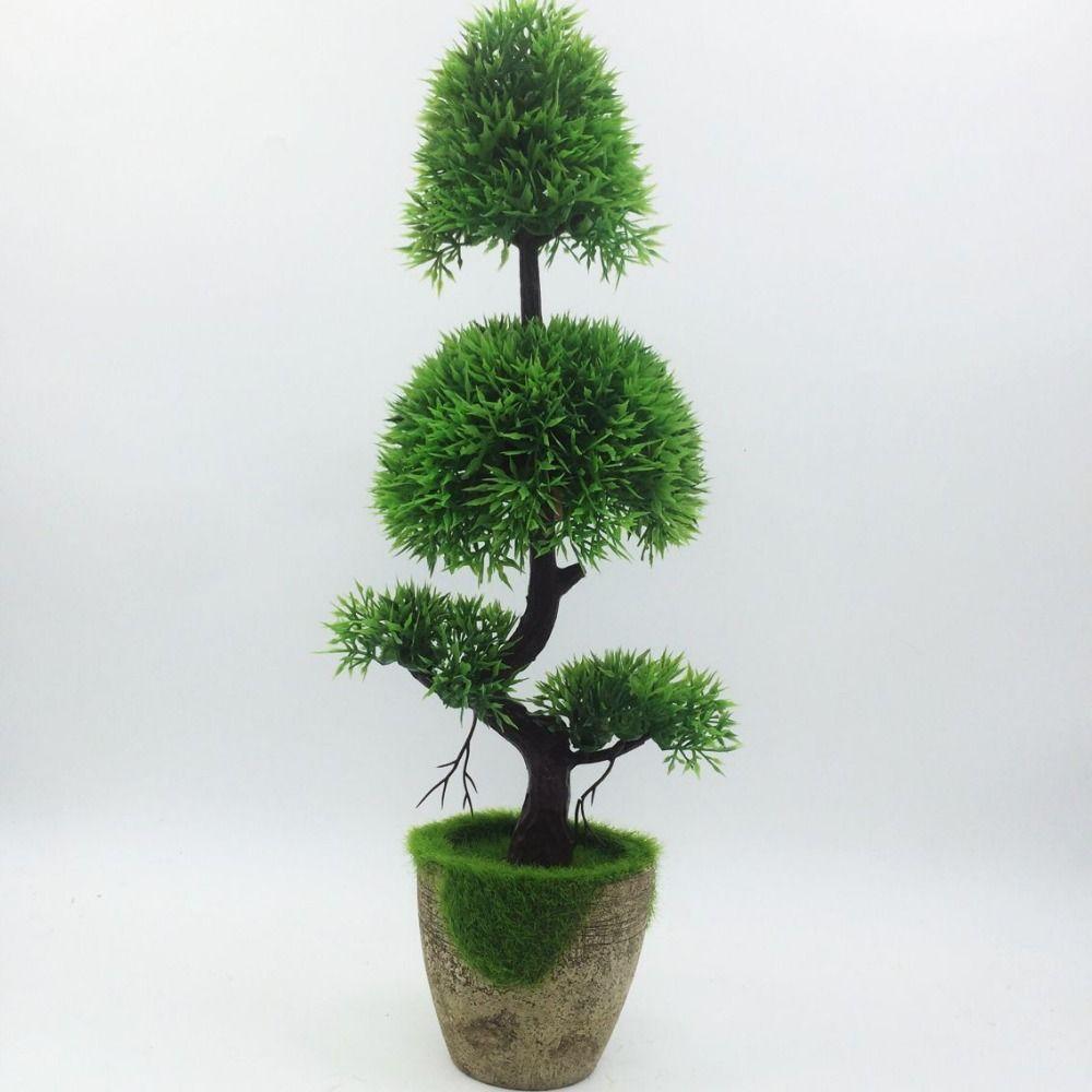 2017 Promotion nouveau pin artificiel bonsaï arbre à vendre Floral décor Simulation Flores Artificiais afficheur de bureau fausses plantes