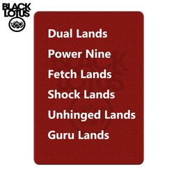 One of Each Beta/ Unlimited/ Revised Dual Lands & Beta / Unlimited Power Nine Magic Playing Cards Lion Board Game Cards