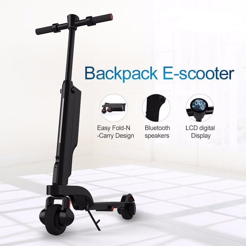 New Folding X6 Electric Skateboard Bicycle Foldable Kick Scooter E-scooter with Shock Absorber/Suspension with Bluetooth APP