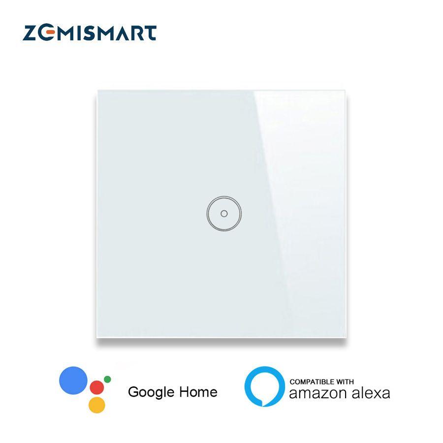 EU 1 Gang 2 Gang 3 Gang Wifi Wall Switch Work with Alexa Smart Home Remote Control Light Panel Control via APP Voice Control